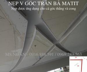 Nẹp góc trần thạch cao - Nẹp V trần thạch cao - Nẹp nhựa UPVC