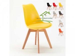 Ghế nhựa chân gỗ nhập khẩu giá rẻ