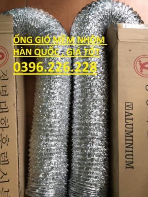 Tổng kho cung cấp và phân phối ống gió mềm nhôm hàn quốc đường kính D400...D1