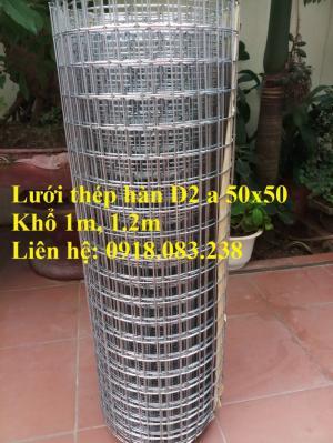 Lưới thép hàn D2 a25x25, a50x50. Khổ 1m, 1.2m, dạng cuộn có sẵn