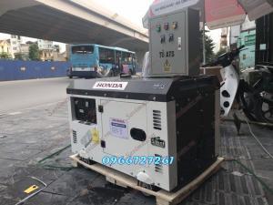 Máy Phát Điện Chạy Dầu HONDA 10KVA KÈM TỦ CHUYỂN ĐỔI NGUỒN ATS HÀN QUỐC
