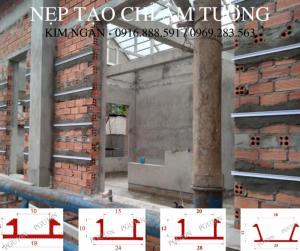 Nẹp nhựa tạo ron âm tường tại Đồng Nai - Nẹp cắt chỉ âm tường