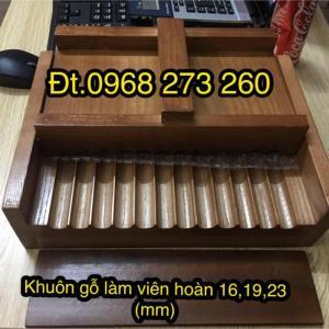 Dụng cụ làm viên hoàn thuốc đông y 16-19-23mm bằng gỗ