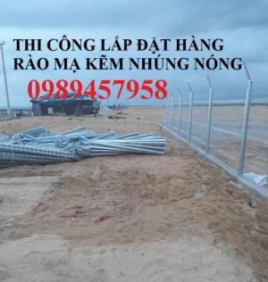 Lưới thép hàng rào mạ kẽm nhúng nóng, Lưới Mạ kẽm nhúng nóng D6 ô 100x100