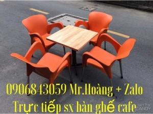 Bàn ghế cafe nhựa đúc giá tại xưởng- Nội Thất Nguyễn Hoàng