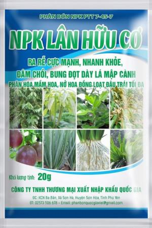 Combo 50 gói phân bón lá siêu lân hữu cơ – npk 25g