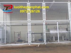 Hàng rào cột trái đào - hàng rào mạ kẽm giá rẻ