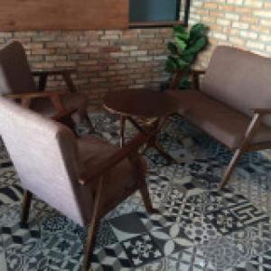 Bộ bàn ghế  gỗ cafe gía rẻ