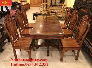 Những mẫu bàn ăn gỗ căm xe 6 ghế giá rẻ