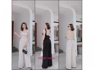 Đầm váy nữ trắng phi lụa nhún xẻ tà tay