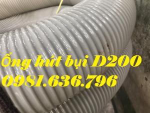 Giá ống hút bụi gân nhựa DN200 .
