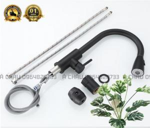 Vòi chậu rửa chén nóng lạnh - sơn tĩnh điện cao cấp-VCC-001
