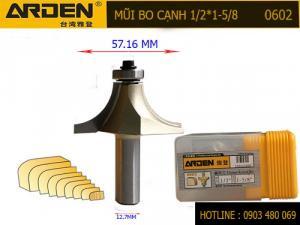 Mũi Router bo cạnh Arden 1/2*1-5/8 Mã 0602 Cốt 12.7mm