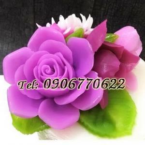 Khuôn silicon hoa hồng đại đóa - Mã số 137 - Size nhỏ