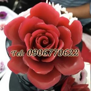 Khuôn silicon hoa hồng đại đóa - Mã số 137 - Size lớn