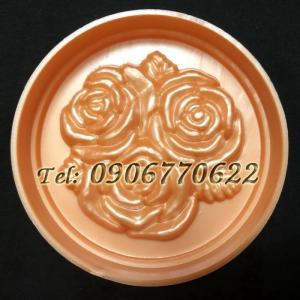Khuôn ép xôi – Khuôn trung thu hoa hồng chùm – Mã số 2