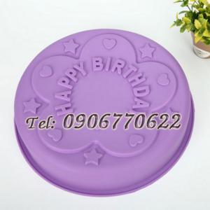 Khuôn silicon Happy Birthday - Mã số 352 - Loại 27 cm