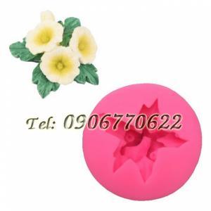 Khuôn silicon làm rau câu 3 hoa hồng kèm nụ và lá – Mã số 333