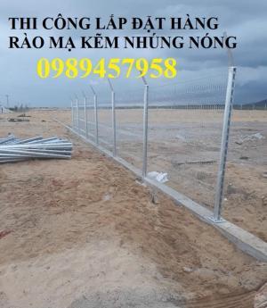 Thi công lắp đặt hàng rào mạ nhúng nóng  phi 5 ô 50x100, 50x150, 50x200
