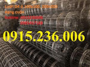 Lưới thép hàn, Lưới thép hàn đổ sàn D4 a100x100, 150x150, 200x200 giá tốt