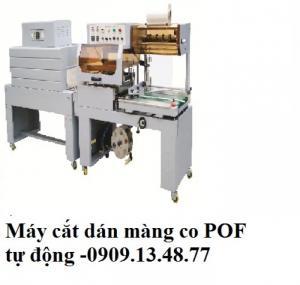 Máy cắt dán màng co hộp tự động, máy cắt màng co hộp mỹ phẩm tự động