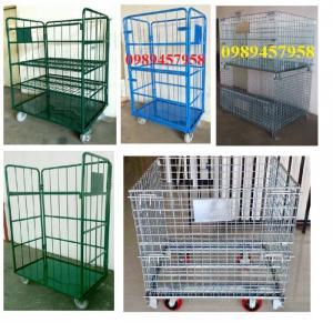 Sản xuất lồng thép để hàng, xe đẩy siêu thị, Lồng thép chứa hàng
