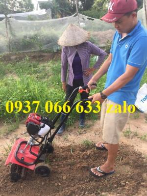Máy xới đất, xạc cỏ Honda GX35 đẩy tay làm vườn siêu thích