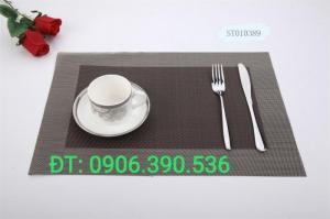Tấm nhựa placemat hoa văn, trang trí bàn ăn đẹp, sang trọng