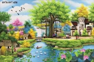 Tranh gạch quê hương Việt nam