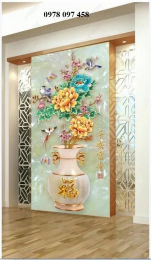 Tranh gạch hoa 3D - tranh gạch
