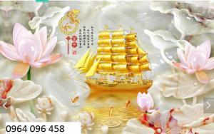 Tranh gạch 3d thuyền buồm - SK78