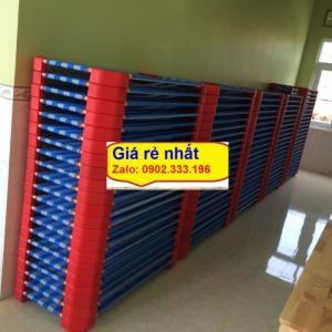 Chuyên cung cấp sỉ giường lưới mầm non vải caro chân đỏ