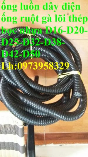Nơi cung cấp ống ruột gà lõi thép bọc nhựa pvc luồn dây điện phi 16 , ph,phi2