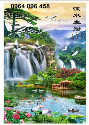 Tranh phong cảnh 3d thác nước - DK78