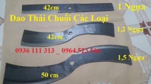Dao Máy Thái Chuối ( Dao Thái Mịn ) 42cm, Trục 24mm