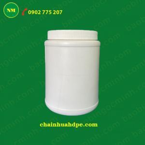 Hủ nhựa tròn NM-H001 đựng bột gạo, tinh bột nghệ các loại.