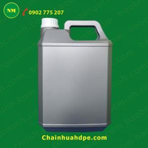 Can nhựa 5 lít vuông Ngọc Minh đựng hóa chất, dầu nhớt.