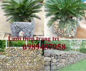 Sản xuất lưới thép rọ đá mạ kẽm nhúng nóng 2x1x1, 2x1x0,5, Rọ thép trang trí