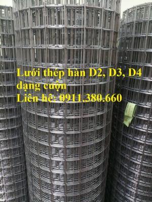Lưới thép hàn D3a50x50 hàng mạ kẽm, hàng đen dạng cuộn
