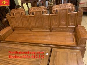 Bộ bàn ghế tay hộp kiểu trương voi gõ đỏ