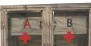Tủ đựng thuốc y tế chia 2 ngăn A, B