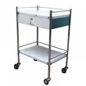 Xe đẩy y tế hai tầng có hộc