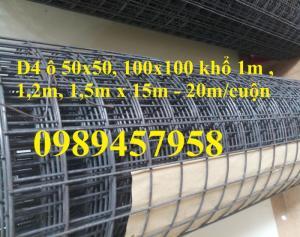 Lưới thép Phi 4 đổ sàn ô 200x200, Phi 5 ô 150x150, Phi 6 ô 200x200 có sẵn