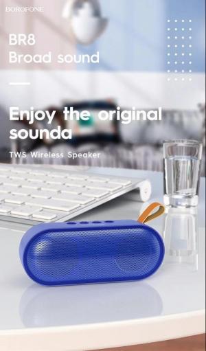 Loa bluetooth borofone BR8 nghe nhạc gọi điện FM hỗ trợ thẻ nhớ USB Âm T