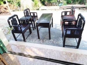 Bộ bàn ghế phòng khách bàn ghế đẹp Bộ bàn ghế vách dơi đỉnh hương
