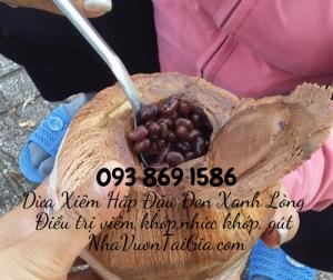 Đậu đen hấp trái dừa cho người viêm khớp  gout