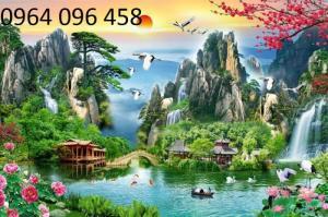 Mẫu tranh dán tường 3d cảnh thiên nhiên - DK89