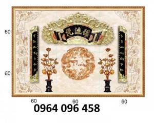 Tranh gạch 3d - gạch tranh 3d phòng thờ - DK81