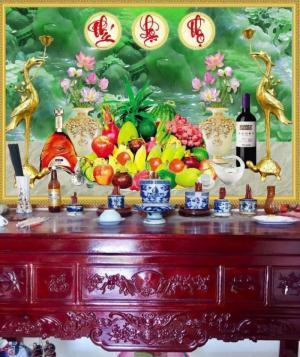 Gạch tranh phòng thờ Sài Gòn