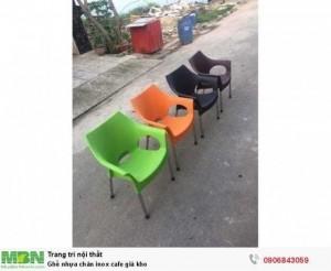 Ghế nhựa chân inox cafe giá kho